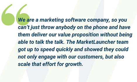Client Quote - marketing software company