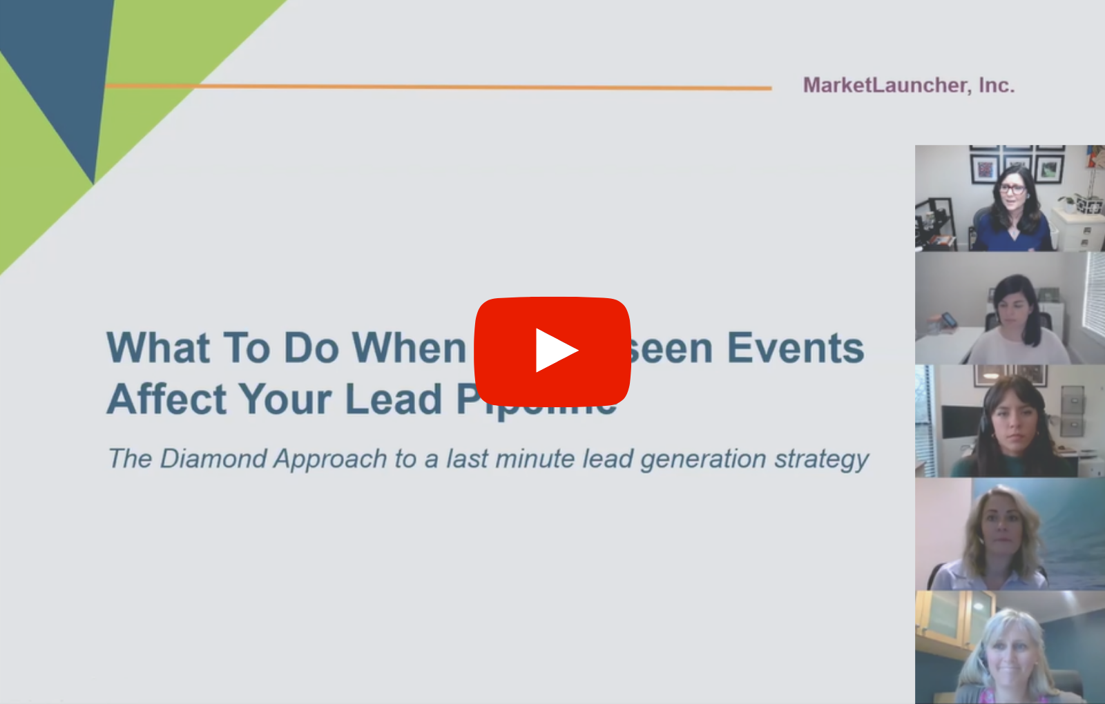 Webinar: What To Do When Unforeseen Events Affect Your Lead Pipeline