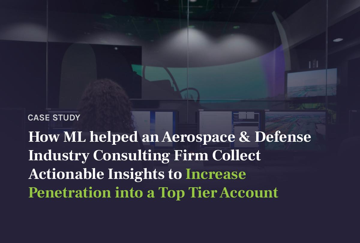 Client Stories | Aerospace & Defense | Market Assessment